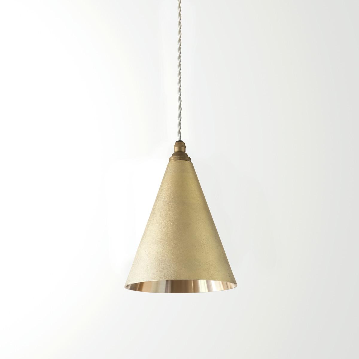 ペンダントランプ『 円錐 長 削り』 Pendant Lamp Cone Long Polished